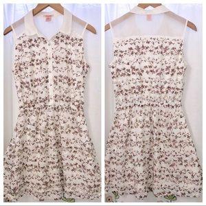 Dresses & Skirts - White flowery lace crochet sun dress